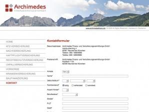 Archimedes Finanzdienstleistungen Kontaktformular