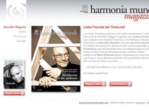 harmonia mundi magazin Startseite