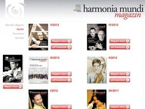 harmonia mundi magazin Archiv
